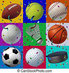sports, célébration, modèle