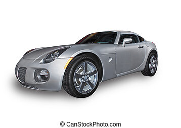 Sports Car - A brand new beautiful silver sports car ...