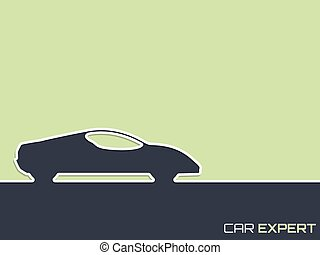 Sports car advertising background design