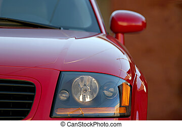 sports car - audi TT closeup, shallow depth of field with...