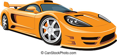 Sports car - Vector isolated sports car on white background...