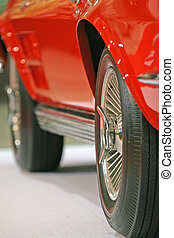 Sports Car - Close up of the wheels of a classic car
