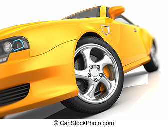 Sports car closeup