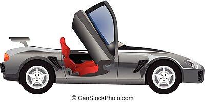Sports Car, Convertible, illustration
