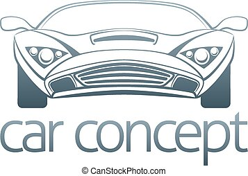 Sports car design - An abstract illustration of a sports car...