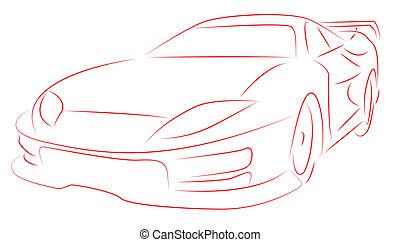 Sports car - Vector illustration of a Sports car