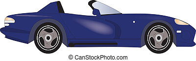 Car - Sports Car in vector