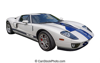 sports car, isolated