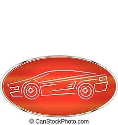 Sports car label design