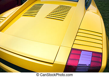 Sports car rear