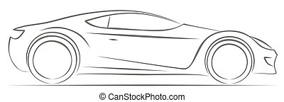 Sports car. - Sketch of the sports car.