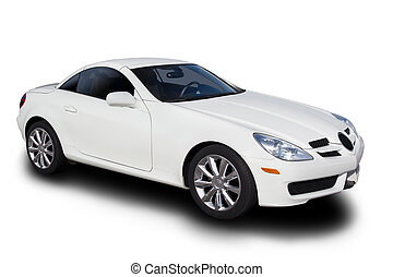 Sports Car - White Sports Car Isolated