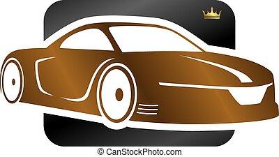 sports car - vector art illustration