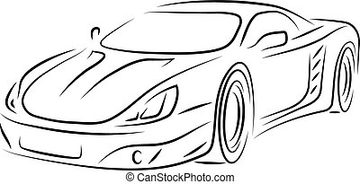 Sports car - Vector concept sports car front.
