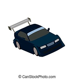 Sports car, vector illustration