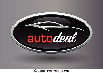 Sports car vehicle silhouette logo design