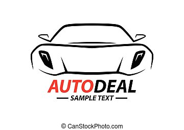 sports car vehicle silhouette logo design