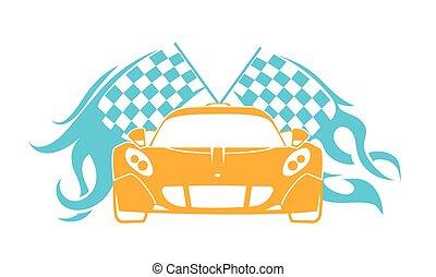 sports cars flat  style