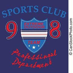 sports club badge vector art