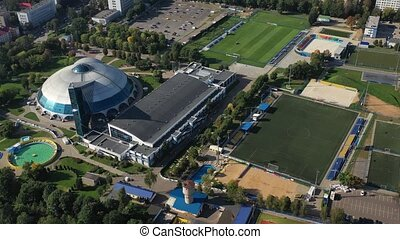 Sports complex in the center of Minsk with open stadiums for...