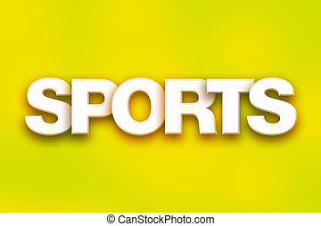 sports, concept, coloré, mot, art