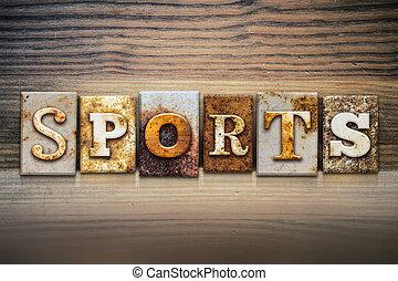 Sports Concept Letterpress Theme