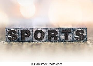 Sports Concept Vintage Letterpress Type