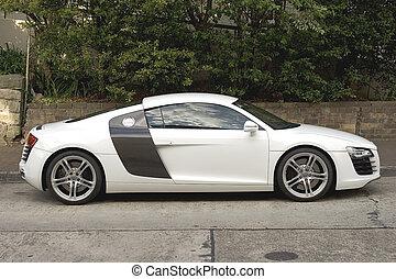 Audi R8 parked in Surburban Sydney Australia St.