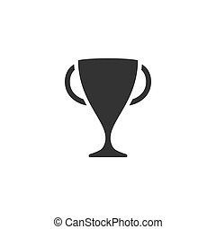 Sports cup icon flat