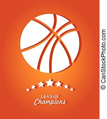 Sports design over orange background vector illustration