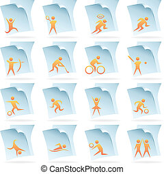 sports documents isolated on a white background.
