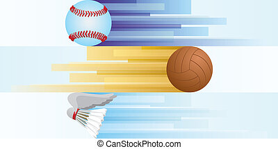 Sports equipment-2 - Balls for basketball, soccer, rugby,...