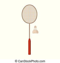 Sports Equipment. Badminton. Vector illustration isolated on...