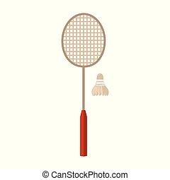 Sports Equipment. Badminton. Vector illustration isolated on...