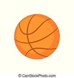 Sports Equipment. Basketball. Vector illustration isolated...