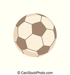 Sports Equipment. Football. Vector illustration isolated on...