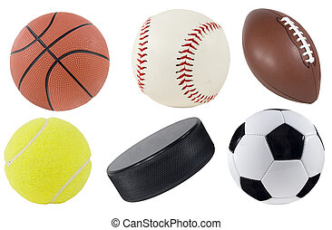 Sports Equipment - Picture of isolated sports equipment.