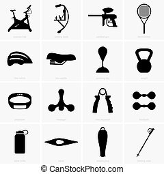 Sports equipment - Set of sports equipment (shade pictures)