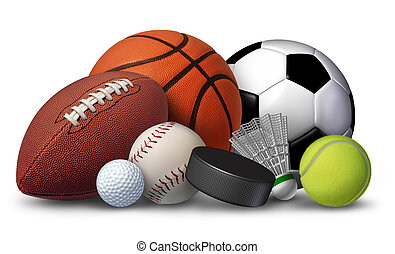 Sports Equipment - Sports equipment with a football ...