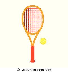Sports Equipment. Tennis. Vector illustration isolated on...