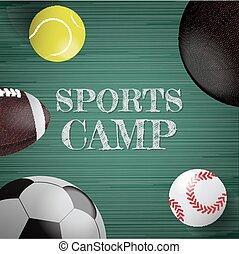 Sports equipment vector background