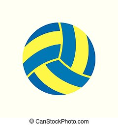 Sports Equipment. Volleyball. Vector illustration isolated...