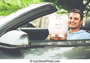 sports, färsk, besparingar, bil