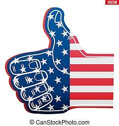 Sports Fan Foam Finger Like with USA Flag