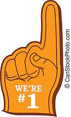 """Foam Finger - Sports Fan's """"We're #1"""" Foam Finger"""