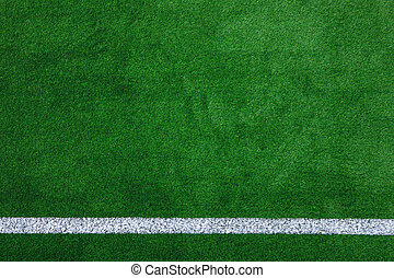 Sports field background - Photo of a green synthetic grass...