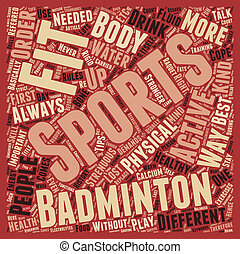 Sports Fitness Fun Way to be Healthy text background wordcloud concept