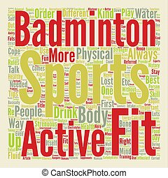 Sports Fitness Fun Way to be Healthy Word Cloud Concept Text Background