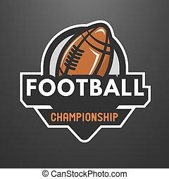 sports, football américain, logo, emblem.