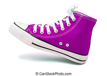 sports footwear on white background